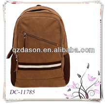 vintage fashion leisure canvas leather backpack,fashion sports backpacks,waterproof laptop backpack