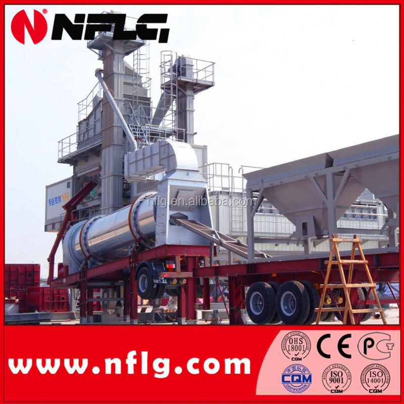 mobile asphalt batch mixing plant