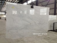 18 mm Thickness Oriental Statuary White Marble Slabs