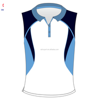 Custom made vogue look sleeveles polo T-shirt