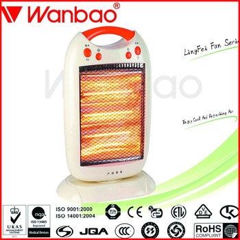 1200W Electric Halogen Heater Halogen infrared heater with 3 Halogen tubes