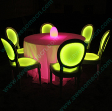 illuminated plastic chair without arms CE&ROHS