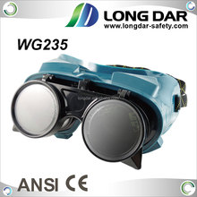 Flip front PPE safety equipment ANSI Z87.1 CE EN175 approval PVC frame shade#5 Green Lens metal-cutting Welding Goggle