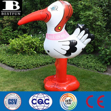 big inflatable stork giant plastic bird garden pool toys customized inflatable birds