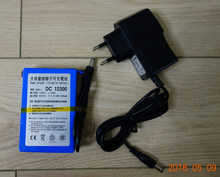 Portable 12V DC 3000mAh Rechargeable Li-ion Battery