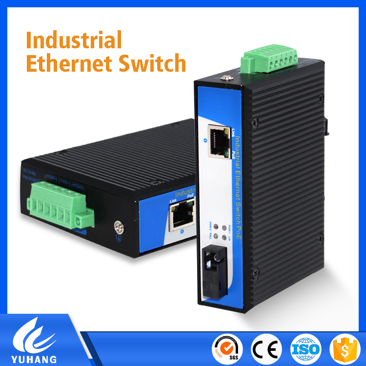 Full gigabit Ethernet Stand-Alone Media converter with Dual power supply redundancy backup