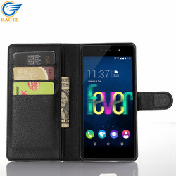 OEM/ODM cell phone cover flip leather case/cover for WIKO Getaway