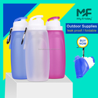 Good Quality Silicone Collapsible Sport Water Bottles Custom Label Water