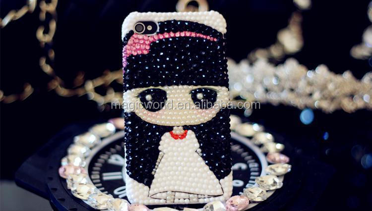 cute girl handmade bling for galaxy s5 phone case