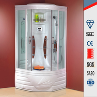 Traditional finland luxury Indoor mini portable dry sauna room /steam shower with bathtub for sale