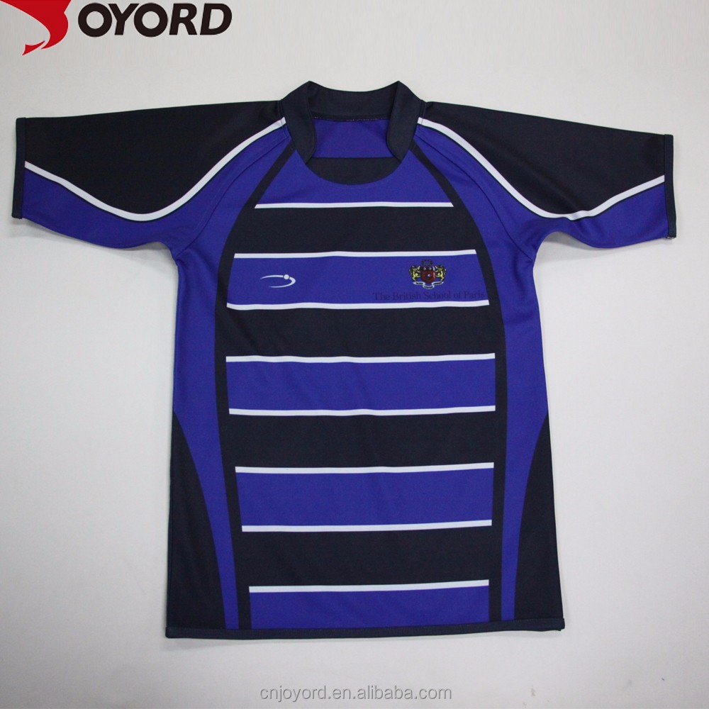 Custom sublimation printing rugby jersey,rugby league jersey,cheap plain fiji rugby jersey