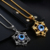 2017 New Arrived Fashion Designing Lucky Turkish Gold Plated Evil Eye Charm With Blue Eye