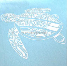 Fancy design turtle custom vinyl raised decal