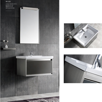Simple Design High Quality Bathroom Cabinet With Light Mirror For Wholesale Project