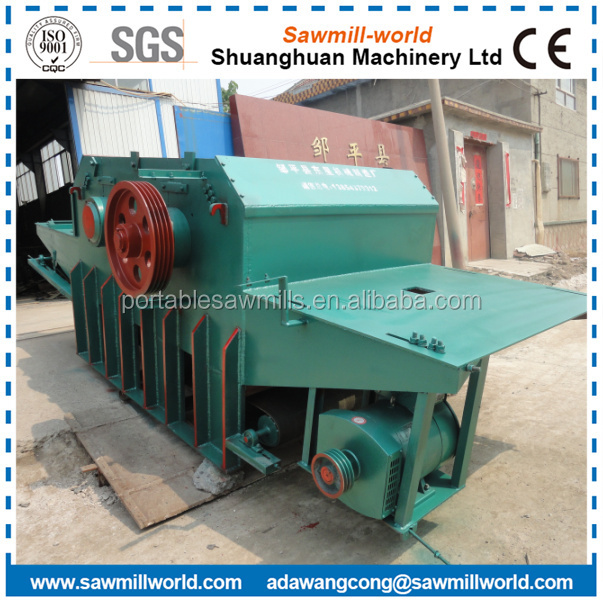 drum chipper for wood diesel wood chopping machine
