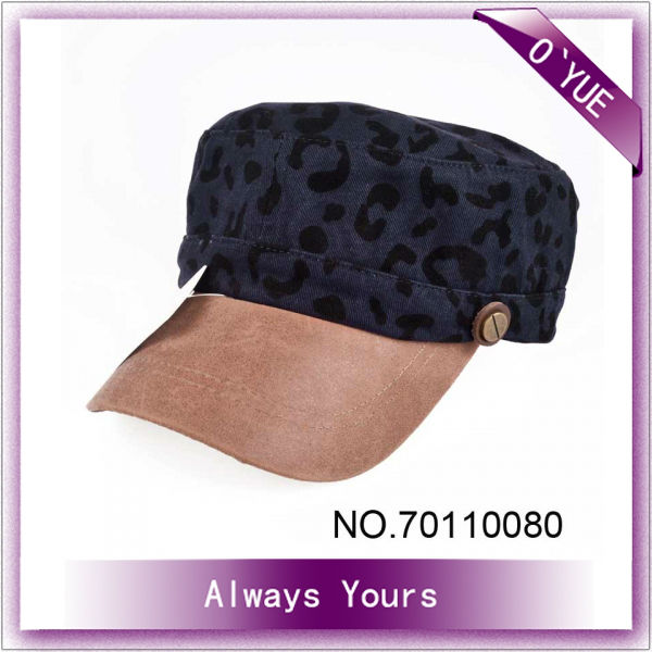 Lady Navy Blue Pretty Military Style Winter Hat