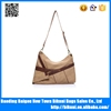 Hot sale high quality crazy horse genuine leather shoulder canvas bag