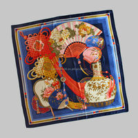 2014 Newest Classic Large Pure Silk Hand Hemmed Scarf