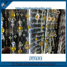 China supplier glass beaded Kitchen glass curtain,glass bead door curtain,