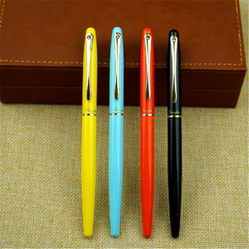 China supplier Promotional copper metal fountain pen with customized logo laser
