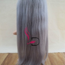 High Quality Low Price Factory Grey Color Hair 100% Brazilian Human Hair Full Lace Wig