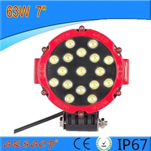 51w auto led light solar powered led work light car working light direct-sale at cheap price