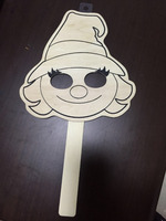 cheap nature customized wooden mask holloween decoration