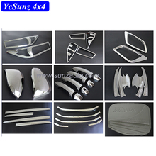 2016 Innova Car Accessories ABS Full Set Chrome Kits For Innova 2016 New Chromed Set Accessories