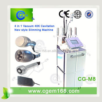 CG-M8 Professional 4 in 1 Cavitation liposuction slimming machine velashape for sale