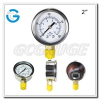 High quality stainless steel brass internal biogas pressure gauge