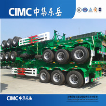 China Supplier CIMC Tri-Axle Skeleton Semi Trailer Container Chassis For Sale