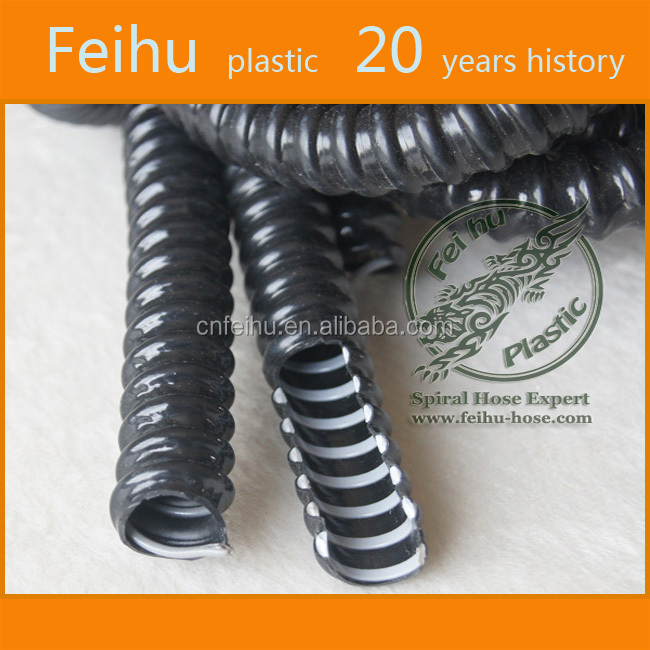Pvc spiral steel wire reinforced hose / Expandable electric pvc hose / Electric shock nipple