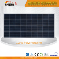 high efficiency 100w poly solar panel