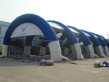 outdoor inflatable blue and white tunnel tent for event party warehouse using