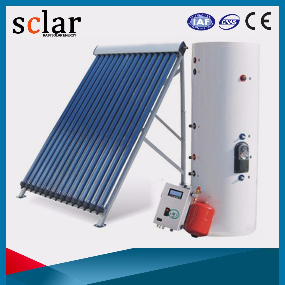 100 lpd evacuated tube collector split pressurized solar water heater