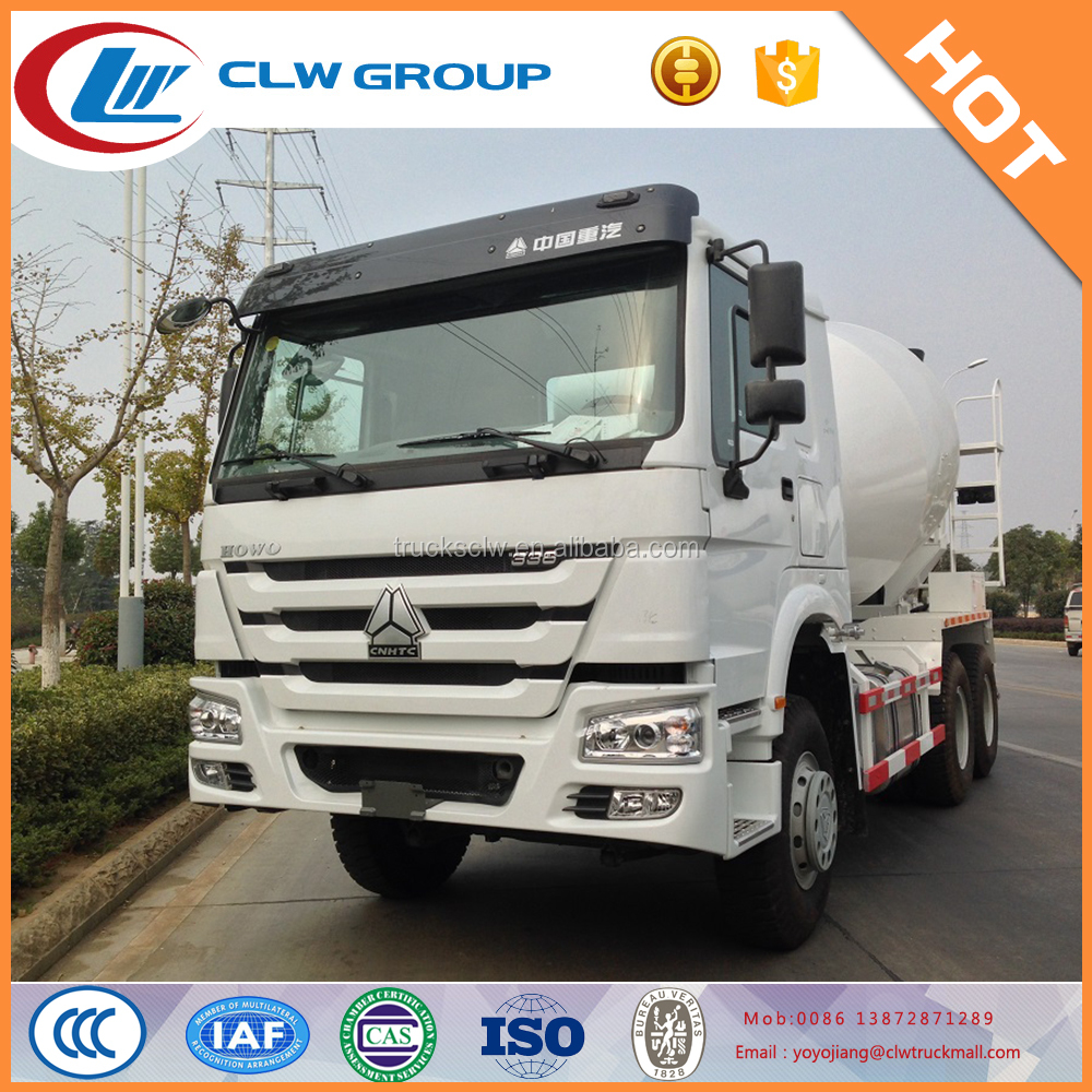 SINO HOWO concrete transportation and mixer truck with 12 cbm tanker