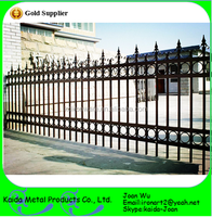 Hot Dip Galvanized Wrought Iron Fence Panels Wholesale