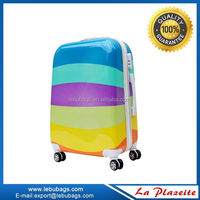 Rainbow color Abs Plastic Luggage travel case, Lightweight Abs/pc Luggage