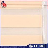 zebra fabric block and filter sunshine double roller blind