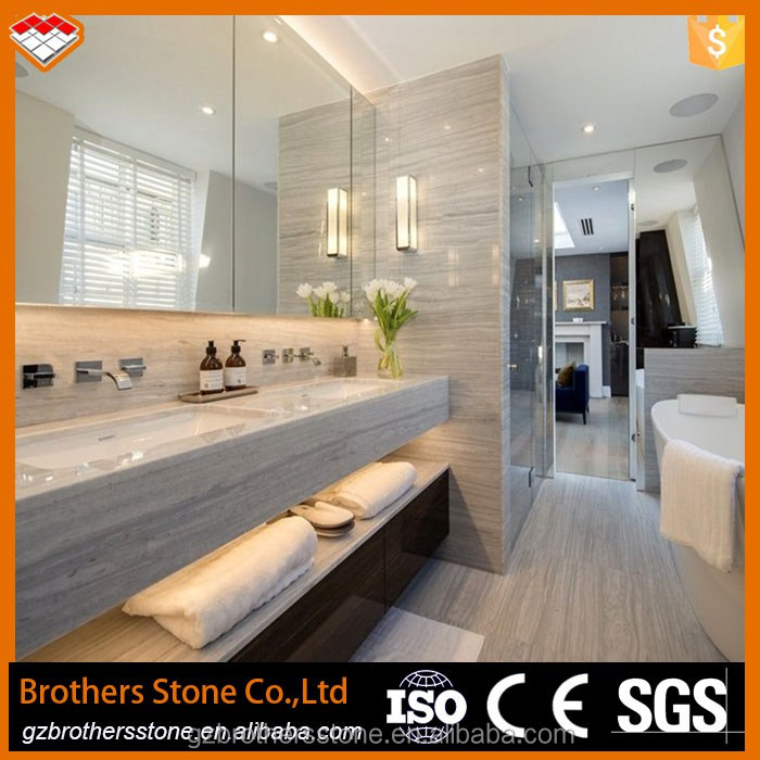 Natural stone white wood marble from Greece