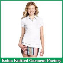 Latest design women blank jersey high quality polo t shirt