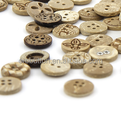 4 holes 10mm custom nice crafts coconut buttons for shirt
