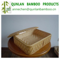 Cheap rectangular bamboo basket for kitchen storage