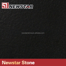 Shinning black leather granite