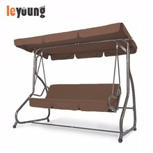 4 Seater Outdoor Garden Hanging Swing Chair Bed for Adult with Canopy Cushions