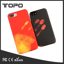 New fashion design frosted thermal induction heat sensitive discoloration change TPU Phone Case For iPhone 7 7 Plus