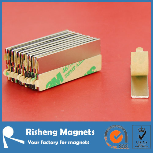 magnet china N pole or S pole optional self adhesive neo magnet