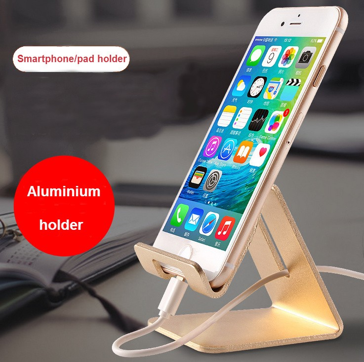 Universal Portable Phone Stand holder For ipad/iphone/Samsung/Tablet Metal Aluminum Mobile Phone Holder