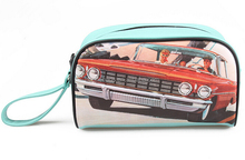 Custom Vintage Style Lovely Mint Green Color Make Up Bags