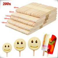 Wholesale Ice Cream Birch Wooden Custom